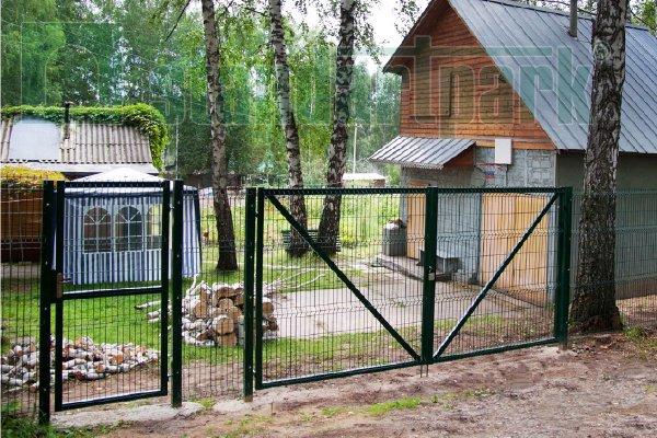 Огражденный дачный участок металлическим забором от Стандартпарк